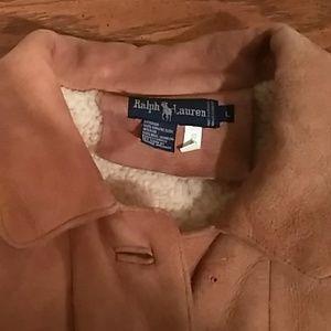 Ralph Lauren Ivory Shearling Coat